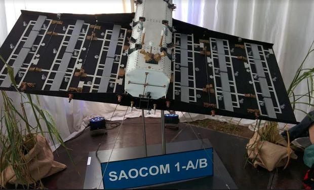 El satélite Saocom 1A que se puso en órbita en octubre de 2018.