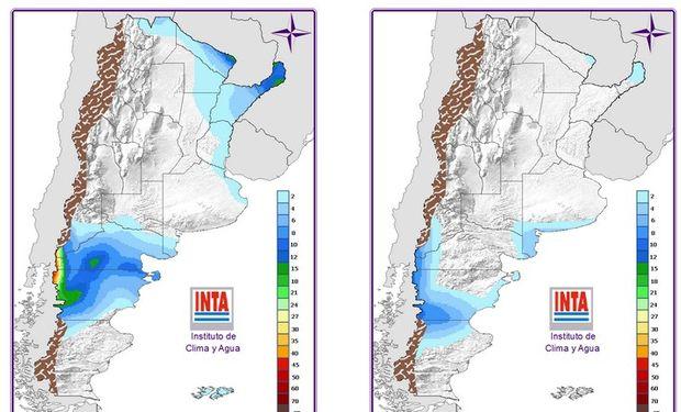 Mapa de precipitaciones a 24 y 48 hs.
