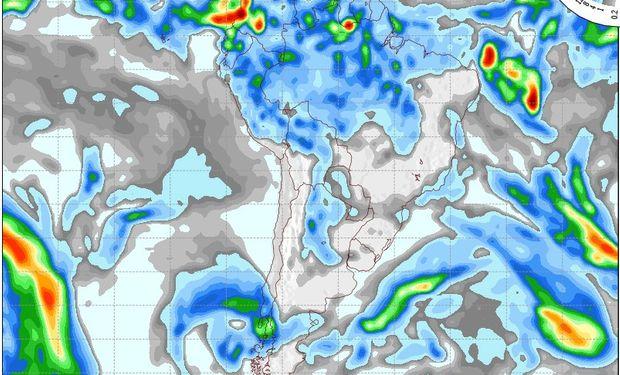 Mapa de precipitaciones válido para el 20 de mayo de 2014.