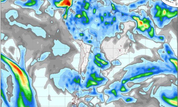 Mapa de precipitaciones válido para el 21 de mayo de 2014.