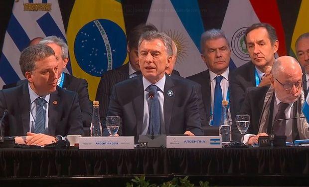 Macri en la Cumbre del Mercosur.
