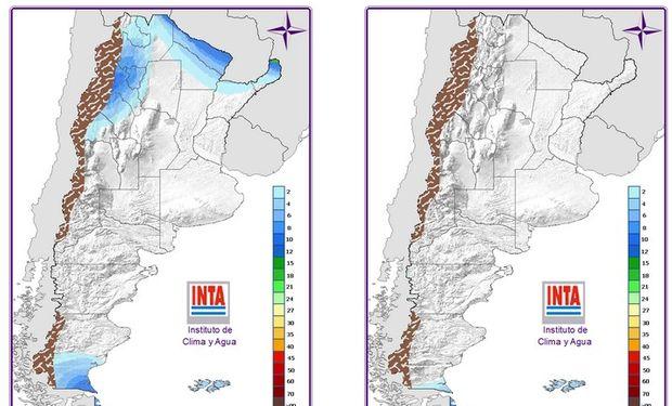 Existe probabilidad de lluvias sobre el extremo norte del país para mañana.