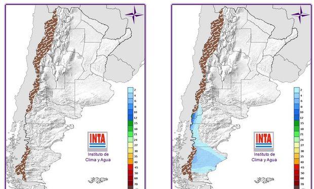 El sábado en la región patagónica se prevé cielo nuboso con algunas lluvias.
