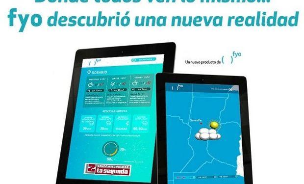 A través de Tablets o Smartphones, este nuevo desarrollo de fyo acerca al productor información climática relevante para el agro.
