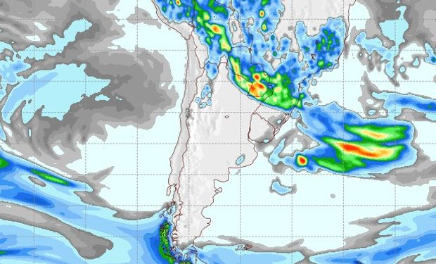 Mapa de Precipitaciones para el 23 de diciembre.