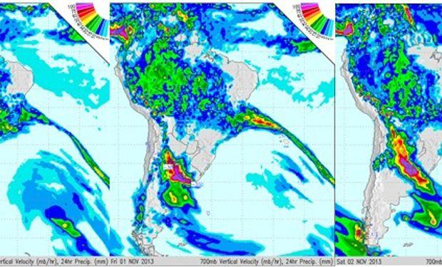 Intensas lluvias para los próximos días