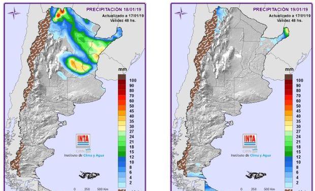 Mapa de Precipitaciones.