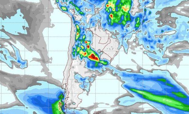 Pronóstico de precipitaciones para el 27 de enero.