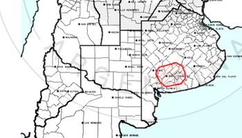 Alerta del Servicio Meteorológico Nacional sobre el centro y sudeste Buenos Aires