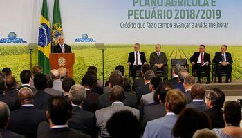 El gobierno brasileño destinará más de US$ 50.000 millones para financiar al agro