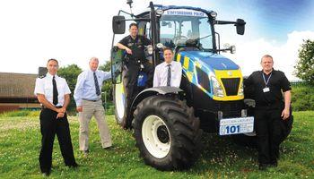 Un tractor New Holland ayuda a combatir la delincuencia rural en Inglaterra