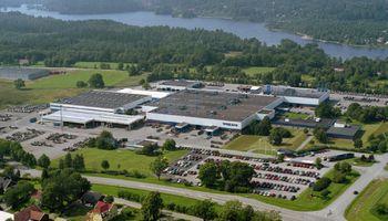 La planta de buses Volvo en Suecia, una de las primeras en utilizar energías renovables