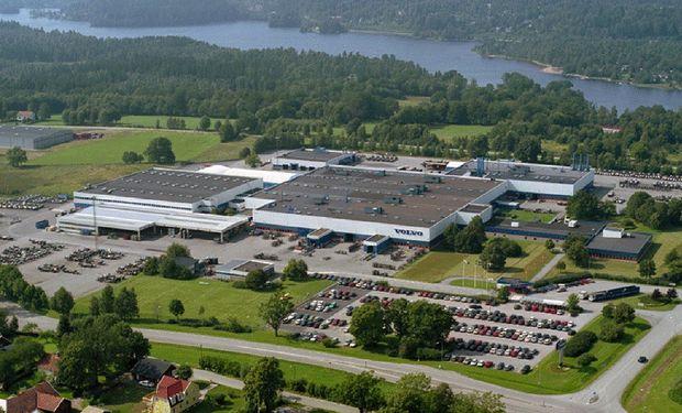La fábrica de buses de Volvo ubicada en la ciudad sueca de Borås.