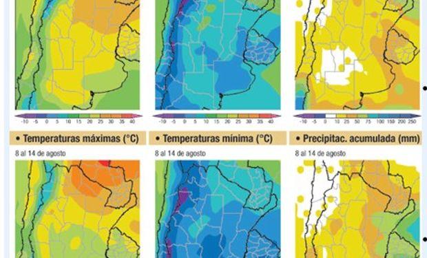 Se esperan lluvias sobre el noreste del área agrícola