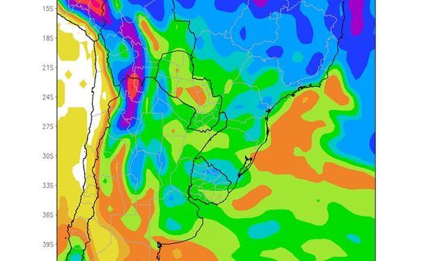 Perspectiva Climática Enero-Maro 2015. Precipitaciones acumuladas (mm)