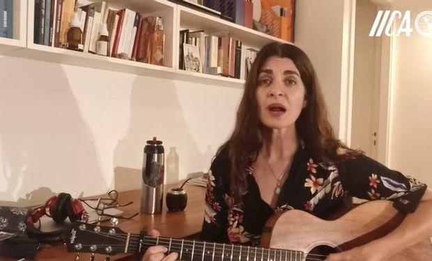 Soledad Villamil, cantante y actriz.