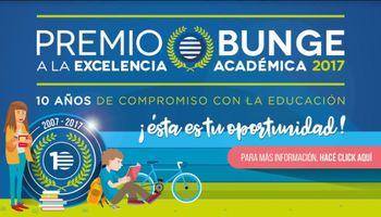 Bunge convoca a jóvenes a participar del Premio a la Excelencia Académica 2017