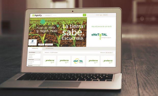 Profertil lanzó su canal de ventas online en Agrofy.