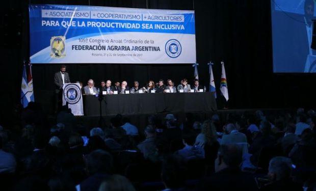Esta mañana comenzó en Rosario el 105° Congreso Anual Ordinario de Federación Agraria Argentina.