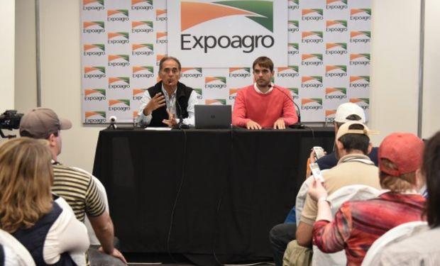 """""""Estamos frente a una edición histórica"""", insistieron Rodrigo Ramírez, gerente general de Expoagro, y Manuel Passaglia, intendente de San Nicolás."""