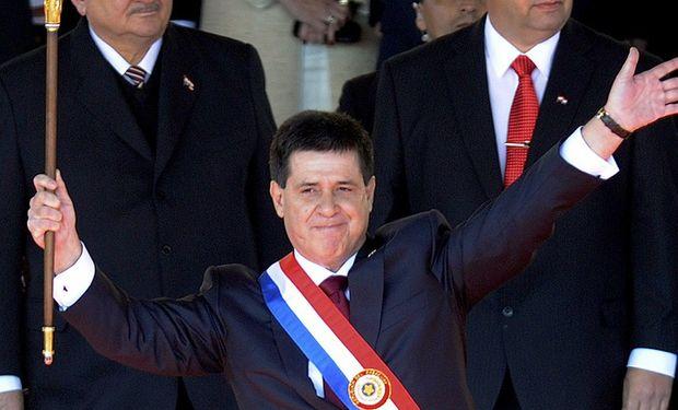 El millonario Horacio Cartes asumió hoy como nuevo presidente de Paraguay. Foto: AFP