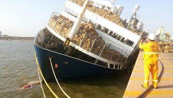 Se hundió barco con 5.000 bovinos en pie en puerto brasileño