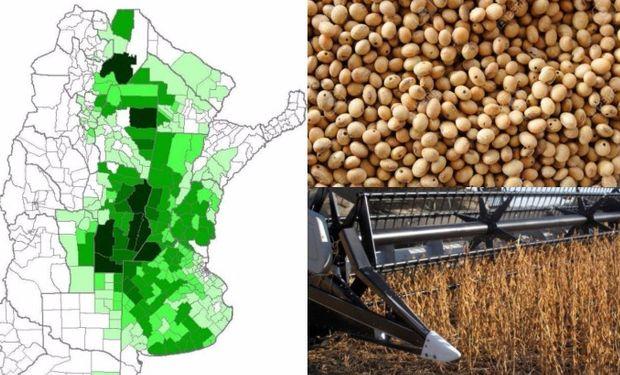 Buenos Aires, Córdoba y Santa Fé, son las provincias donde se informó la mayor superficie sembrada para soja 2016/17.