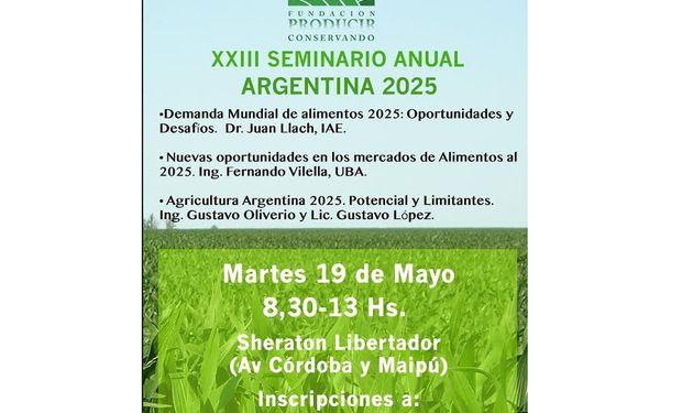 Como todos los años, el tema central es la proyección a mediano y largo plazo del sector agroindustrial.