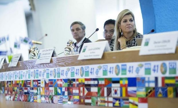 Del panel participó la reina Máxima de Holanda, defensora especial de financiación inclusiva para el desarrollo en Naciones Unidas.