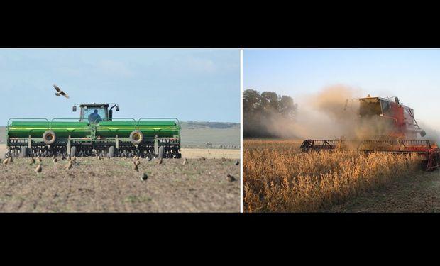 Siembra de trigo y cosecha de soja y maíz avanzaron sin pausa a lo largo de la semana.
