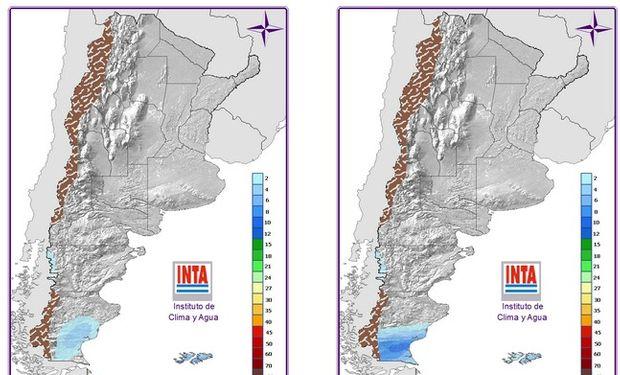 Mapa de Precipitaciones 24 y 48hs. Fuente: INTA