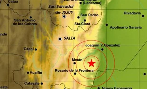 La profundidad del temblor fue de 10 kilómetros.