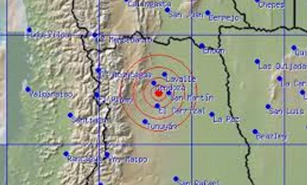 Un fuerte sismo sacudió esta madrugada a Mendoza