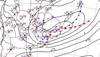 Ciclón extratropical afecta a la costa bonaerense