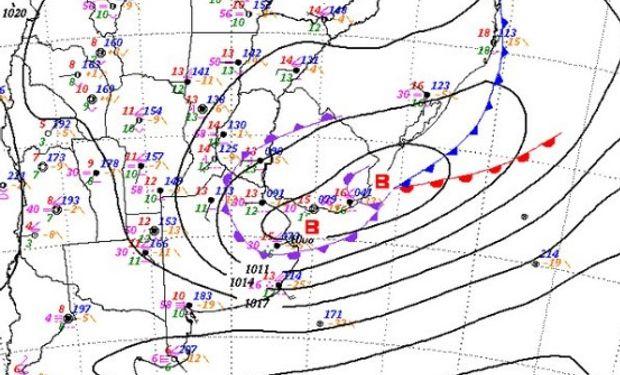 Ciclón extratropical afecta a la costa bonaerense y seguirá hasta el jueves.