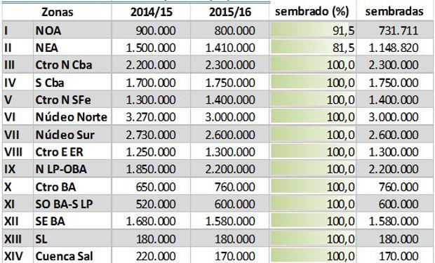Fuente: Bolsa de Cereales de Buenos Aires.