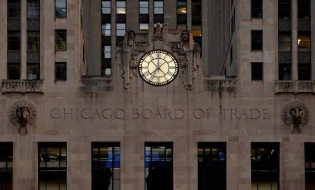 Subas en la operatoria nocturna de Chicago.