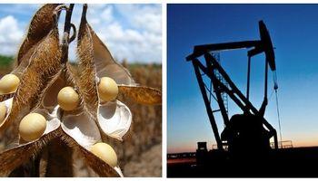 Soja y petróleo definen el saldo comercial del año
