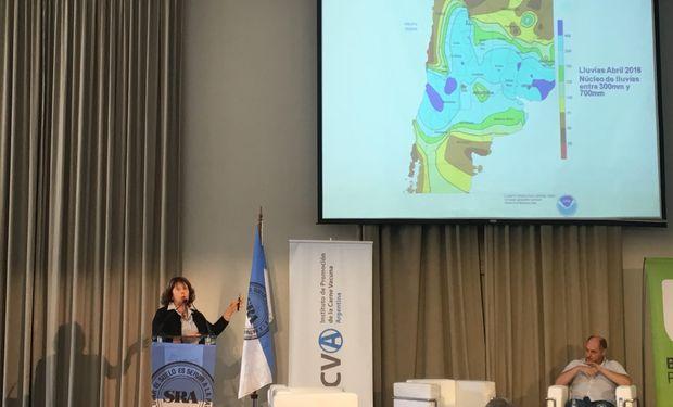 Stella Maris Carballo, investigadora del Instituto de Clima y Agua del INTA .