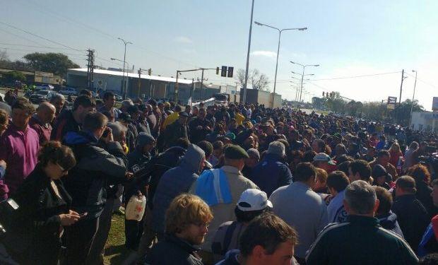 La protesta fue en la cuenca lechera de Rafaela.