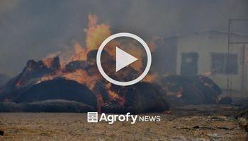 Incendio y destrucción total en una planta algodonera