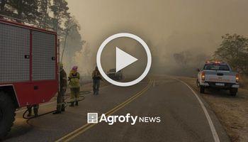 Incendios en Córdoba: las imágenes del fuego que avanza sobre las sierras