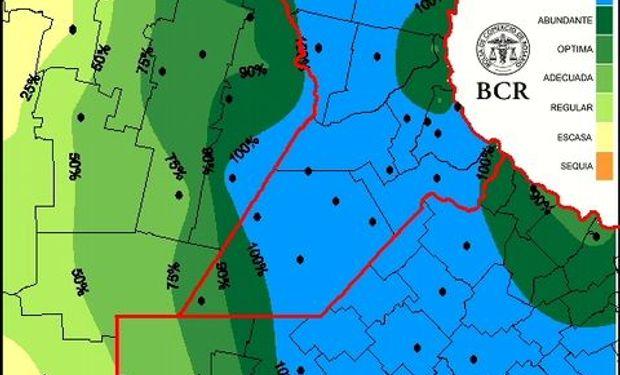 Mapa de agua útil trigo 20/8/15.