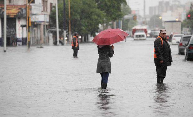 El temporal en Avellaneda  Foto: LA NACION / Silvana Colombo