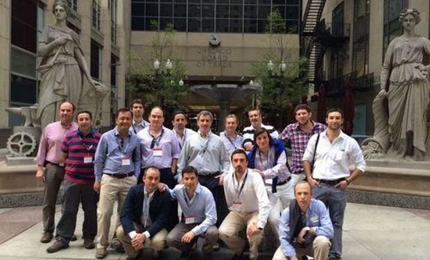 El grupo Argentino en el Mercado de Chicago.