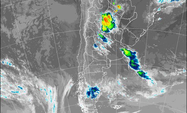 El SMN alerta por tormentas fuertes.
