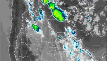 Las tormentas se trasladan al norte: se esperan 60 mm hasta la mañana del miércoles