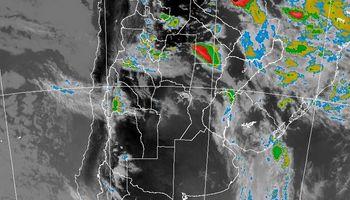 Alerta por probables tormentas fuertes sobre el norte