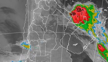 Lluvias y tormentas sobre el NEA