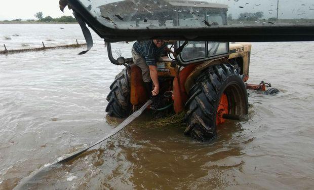 Campos inundados en el sur de la provincia de Santa Fe.